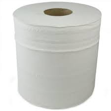White Industrial Paper Rolls