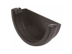 HALF ROUND CAST IRON EXT STOP RE1CI BLACK