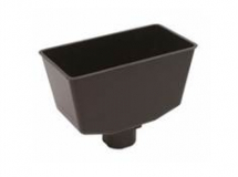 HALF ROUND CAST IRON HOPPER RH1CI BLACK