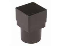 OGEE CAST IRON SQ/RD ADAPTOR NIAGARA RDS2CI BLACK
