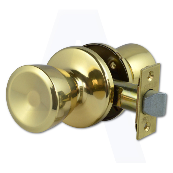 WEISER BEVERLY PASSAGE POLISHED BRASS