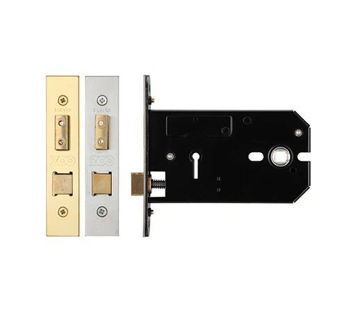 Zoo Hardware ZUKH 3 Lever 127mm SS Horizontal Mortice Lock
