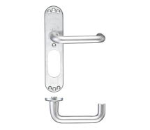 ZOO HARDWARE ZAAILP RTD LEVER ON INNER BACKPLATE 19mm LONG PLATE SATIN ALUMINIUM