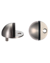 OVAL DOOR STOP FLOOR MOUNTED ZAS06CSS SATIN STAINLESS STEEL
