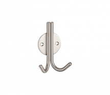 ZAS70 DOUBLE ROBE HOOK SATIN STAINLESS STEEL