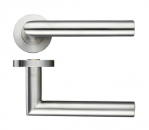 ZOO HARDWARE ZPS010SS 19m MITRED LEVER SCREW ON ROSE SATIN STAINLESS STEEL