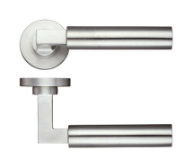ZOO HARDWARE ZPS110SS 22mm ORION LEVER SCREW ON ROSE SATIN STAINLESS STEEL