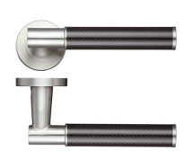 ZOO HARDWARE ZPS130SS 22mm EROS LEVER SCREW ON ROSE SATIN STAINLESS STEEL