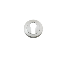 ZOO HARDWARE ZPS001SS EURO PROFILE ESCUTCHEON SCREW ON ROSE SATIN STAINLESS STEEL
