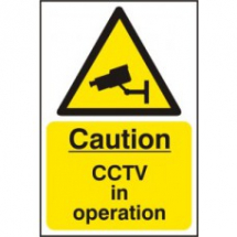 CAUTION CCTV IN OPERATION SAV 200mm x 300mm