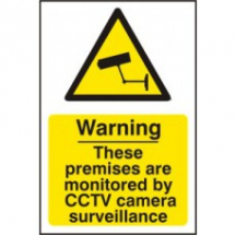 WARNING THESE PREMISES ARE MONITORED BY CCTV CAMERA SURVEILLANCE PVC 200mm x 300m