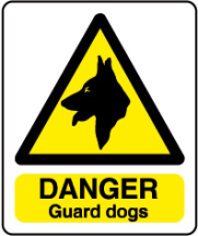 inchDanger Guard Dogsinch Sign