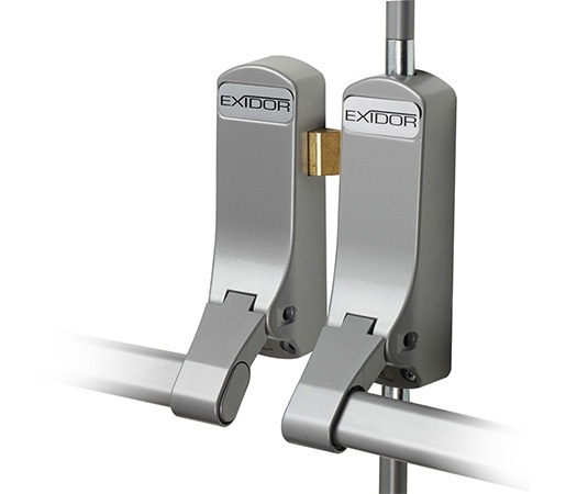 EXIDOR 285 DOUBLE PANIC DOOR BOLT SILVER EACH