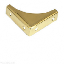 Chest Corner 078N Brass 51mm sq