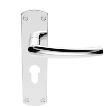 DOS EURO LEVER ON BACKPLATE SZC021YCP  POLISHED CHROME