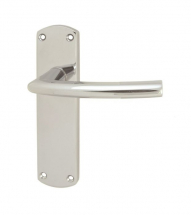 DOS LEVER ON BACKPLATE SZC022CP  POLISHED CHROME