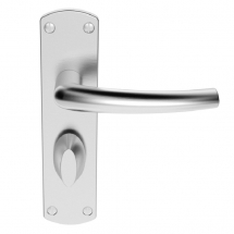 DOS LEVERBATHROOM ON BACKPLATE SZC023SC  SATIN CHROME
