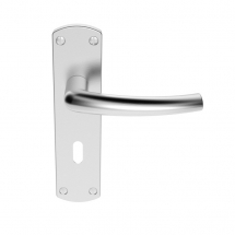 DOS LEVER LOCK ON BACKPLATE SZC021SC  SATIN CHROME
