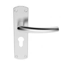 DOS EURO LEVER ON BACKPLATE SZC021YSC  SATIN CHROME