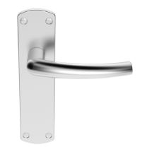 DOS LEVER ON BACKPLATE SZC022SC  SATIN CHROME