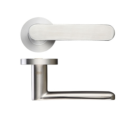 Atlas Lever On Push On Rose ZCS090SS (SATIN STAINLESS)