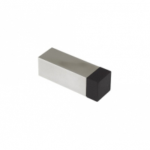ZAS12SQ DOOR STOP SOLID PROJECTION WITHOUT ROSE SQUARE SATIN STAINLESS