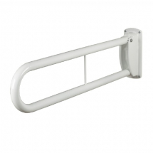 HINGED SUPPORT RAIL 35mmx750mm WHITE COATED STEEL