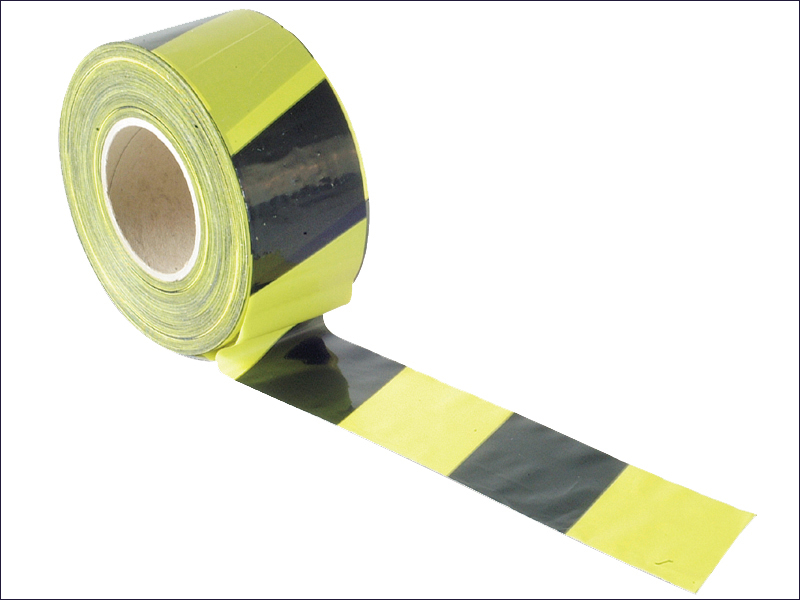 BARRIER TAPE BLACK & YELLOW 70mmx500mtr