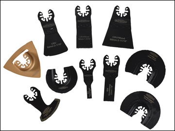 FAITHFULL MULTI FUNCTION TOOL BLADE SET 10PC CASE FAIMFKIT10