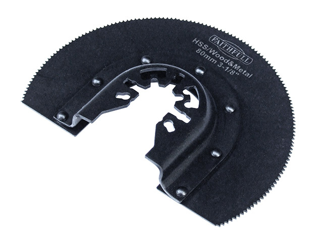 FAITHFULL WOOD/METAL RADIAL BLADE 80MM HSS FAIMFWM80