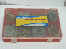 GENERAL ASSORTMENT SCREWS AND WALL PLUGS FIXING SET 370 pieces