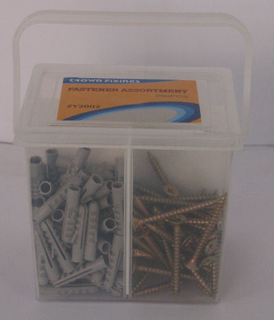 Crown ZY2002 Assorted Plugs and Screws 200 PIECES