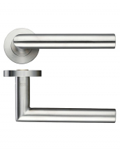 19mm Mitred Lever On Push On Rose ZCS010 Stainless Steel