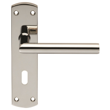 Steelworx 201 Stainless Steel Mitred Lever On Backplate
