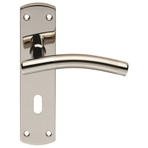 Steelworx 201 Stainless Steel Curved Lever On Backplate