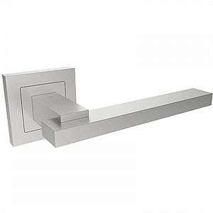 SSL1402 Steelworx 304 Stainless Steel Flat Lever On Square Rose