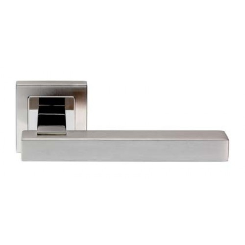 SSL1405 Steelworx 304 Stainless Steel Square Lever On Square Rose