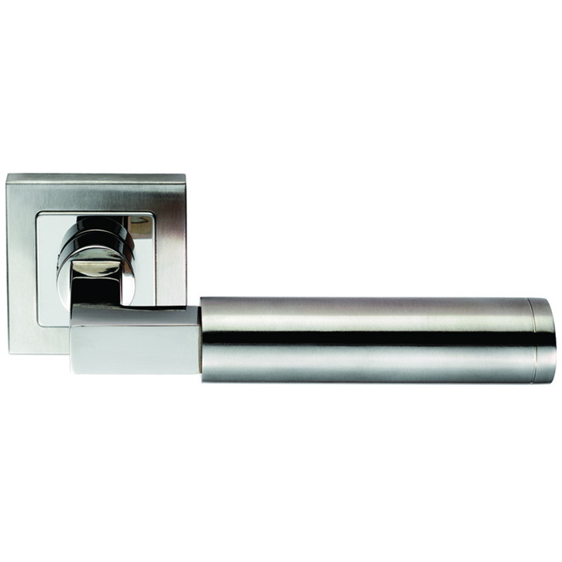SSL1406 Steelworx 304 Stainless Steel Square Mitred Lever On Square Rose