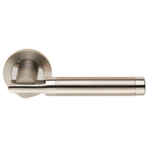 Carlisle Brass Eurospec Steelworx SWL1010 Duo Berna Lever Handle on Rose