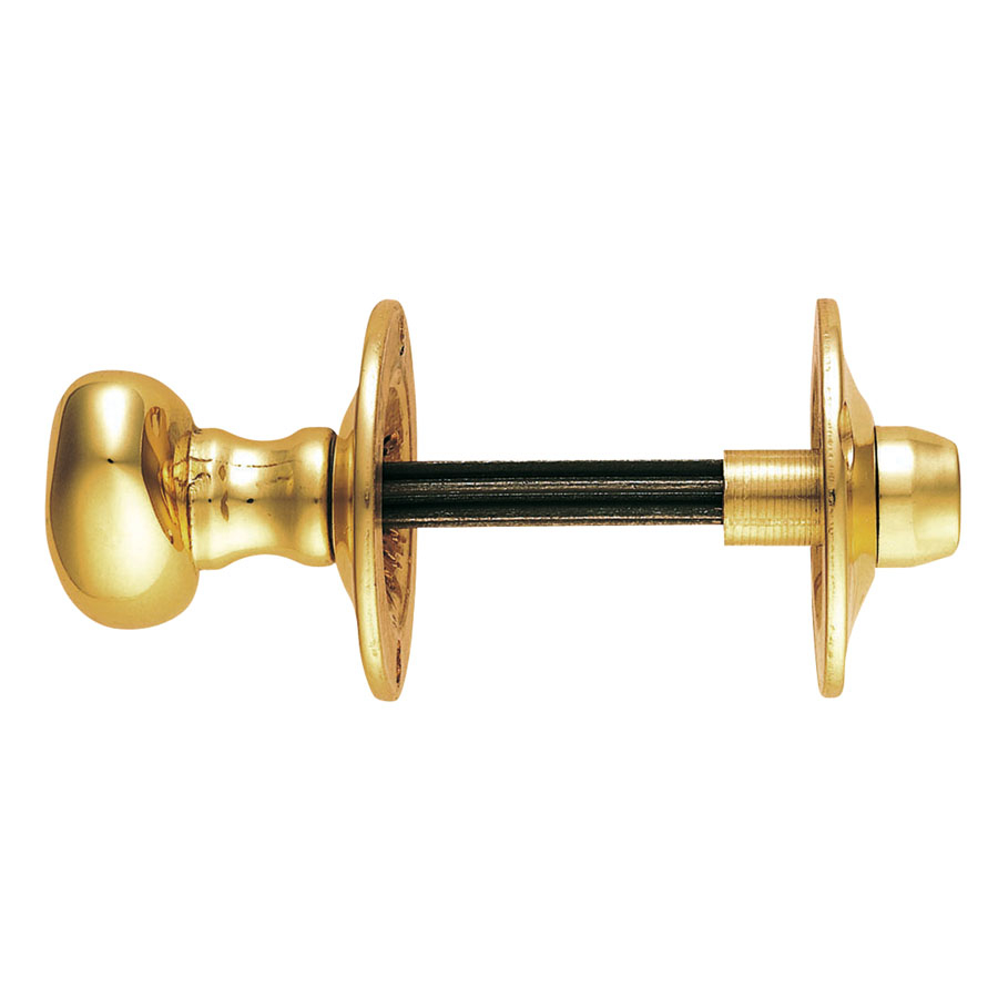 CARLISLE BRASS AA32 OVAL THUMBTURN WITH COIN RELEASE ON ROSE