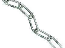 C Link Chain Zinc Plated per metre