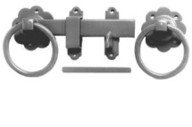 1136 150mm PLAIN RING HANDLE TAPERED GATE LATCH SETS
