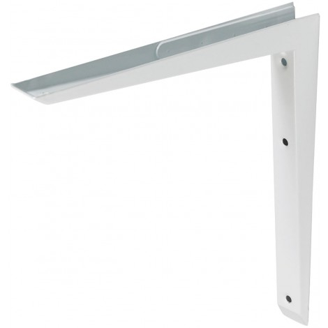 Mitred White Shelf Bracket Hi-Load