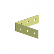 Corner Brace BZP / Yellow Passivated