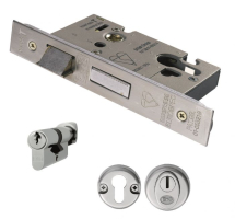 EUROSPEC EASI-T EURO PROFILE BS CYLINDER AND TURN SASHLOCK