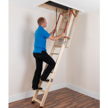 LADDAWAY ENVIROFOLD WOODEN LOFT LADDER