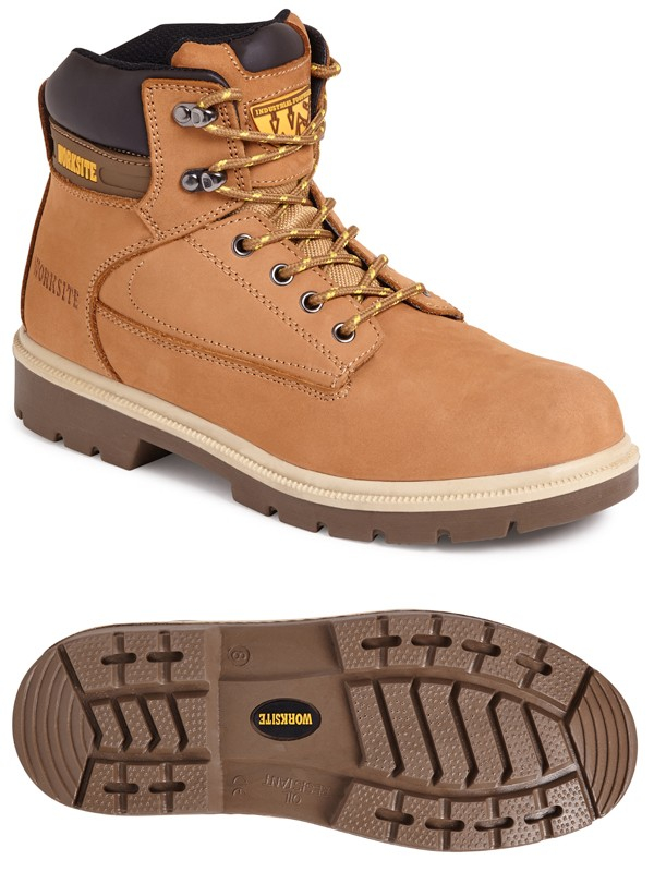 Worksite Nurbuck Safety Boot