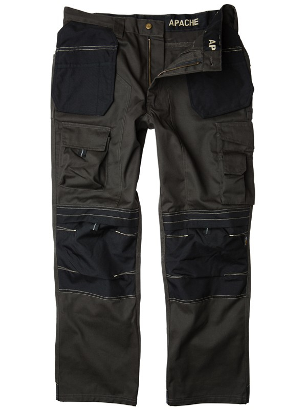 Apache Kneepad Holster Trousers Grey/Black APKHT