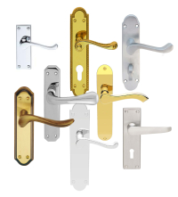 Traditional Lever Handles On Backplate